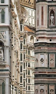 Duomo, Firenze   The Exterior of Florence Cathedral (Close-up detail)  Photo by Marcus Reeves , from Iryna