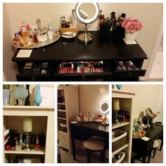Vanity Ideas On Pinterest Vanity Organization Makeup Vanity Organization
