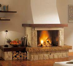 Камины для дома на дровах. Дровяные камины для отопления дома Rustic Fireplaces, Cozy Fireplace, Modern Fireplace, Fireplace Surrounds, Fireplace Design, Fireplace Mantels, Living Room Remodel, Home Living Room, Fireplace Remodel