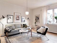 Warm de winter door in dit stijlvolle Zweedse appartement