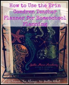 Erin Condren Teacher Planner for Homeschool Planning