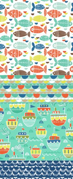 wendy kendall designs – freelance surface pattern designer » ship ahoy