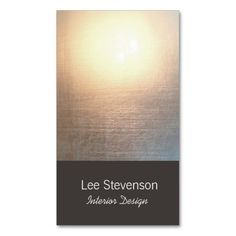 Zen Interior Designer Business Card