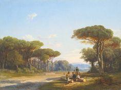 Ifj. Markó Károly (1822 - 1891) Jelenet a tisztáson, 1855