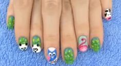 Nail art with animals! In this nail tutorial I show 5 nail art designs inspired by animals! 5 cute animal nail art designs perfect for all animal lovers. ...http://womenbeautyadvices.blogspot.com/2014/09/animals-nail-art-5-nail-art-designs.html