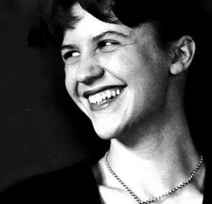 My favorite picture of Sylvia Plath- one of the only I've found of her looking genuinely happy. //She has the cutest smile... <3