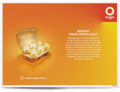 We just love this ad - totally makes you pause and think about the origin of energy (excuse the pun!)