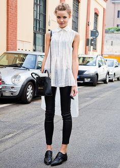 Anastasia Krivosheeva (in) Model's Street Style.