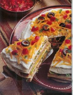 The BEST taco pie you'll serve.  Each layer adds something new and delicious.  Oh - my- taco heaven.