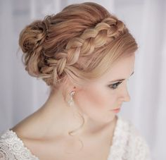 30 Creative and Unique Wedding Hairstyle Ideas, except looser and more bohemian