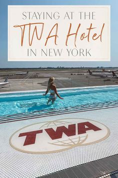 TWA Hotel New York City 1960s Travel Hotel JFK Twa Flight Center, Wine And Pizza, People Leave, Pool Bar, Beautiful Hotels, Jfk, Staycation, Back In The Day, New York City