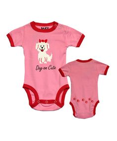 Pink 'Dog-On Cute' Bodysuit - Infant on zulily