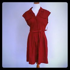 NWT Red Dress NWT LIZ Claiborne Red Dress  Size : 14 Liz Claiborne Dresses