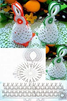 Christmas Crochet Patterns Part 8 - Beautiful Crochet Patterns and Knitting Patterns Crochet Motifs, Crochet Chart, Crochet Doilies, Crochet Flowers, Easter Egg Pattern, Christmas Crochet Patterns, Easter Projects, Easter Crafts, Crochet Bunny