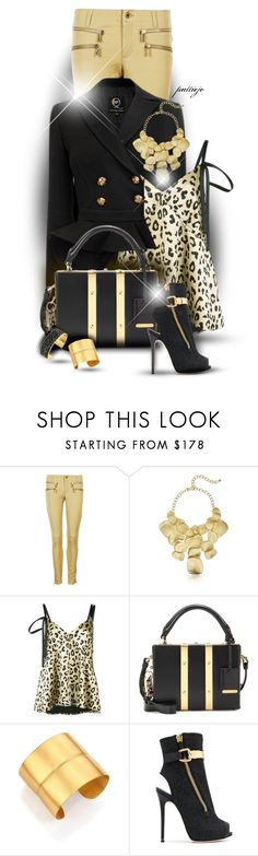 """""""All that Shimmers"""" by rockreborn ❤ liked on Polyvore featuring MICHAEL Michael Kors, Kenneth Jay Lane, Cinq à Sept, Sophie Hulme, Stephanie Kantis and Giuseppe Zanotti"""