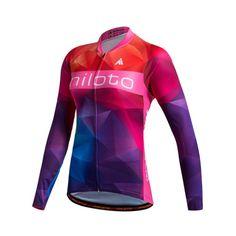 0e8cda5cd Women s Long Sleeve Cycling Jerseys Reflective Ladies Bicycle Bike Jersey  Shirts
