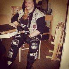 Me. #punk #DIY #vest