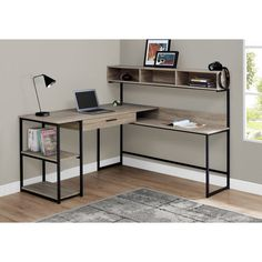 Taupe & Black Metal L-Shaped Corner Desk – home office design layout Steel Furniture, Office Furniture, Diy Furniture, Furniture Design, Furniture Websites, Inexpensive Furniture, Desk Office, Furniture Removal, Furniture Movers