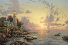 Thomas Kinkade Special Edition - The Sea of Tranquility – All Weather Goods.com