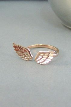 Rose Gold Guardian Angel Wing Ring, Good Luck Charm Jewelry Gift for . Rose Gold Guardian Angel Wing Ring, Good Luck Charm Jewelry Gift for Girl , Woman Cute Jewelry, Charm Jewelry, Jewelry Gifts, Jewelery, Jewelry Accessories, Fashion Accessories, Jewelry Design, Fashion Jewelry, Silver Jewelry