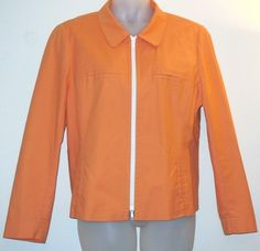 """Lafayette 148 New York Cotton Casual Orange Jacket. Voted a """"Top Spring Jacket"""" by Tradesy members! The Lafayette 148 New York Cotton Casual Orange Jacket is almost sold out...See all Lafayette 148 New York jackets on Tradesy"""