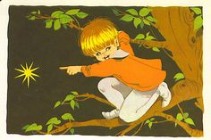 Illustration by Maria Pascual of Tom Thumb. It's from and old fairy tale book