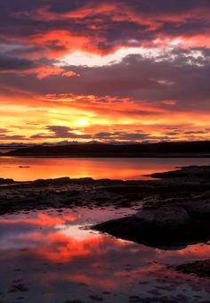 Firework Of A Sunset - Epic sunset at Naustholmen Island in Steigen municipality of North-Norway