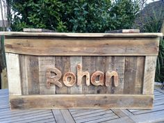 Wooden Personalised Toy Box With Safety Hinges