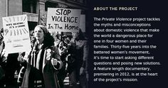 Amazing project...Private Violence (started in NC too!) everyone should visit their website!