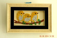 Quilled art work. Cutest wall frames!Have a closer look.