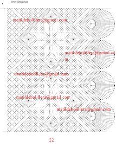 NUEVOS PICADOS PARA CHALES - Página web de matibolillera Bobbin Lace Patterns, Weaving Patterns, Lacemaking, Bullet Journal, Sewing, Bobbin Lace, Painting On Fabric, Lace Shawls, Crocheting