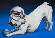 Justin Leeming returns to the Open Houses this year with his work primarily in acrylic or oil on canvas. Saltaire Arts Trail, 28th to 30th May 2016 #deathstar #stormtrooper #jackrussell