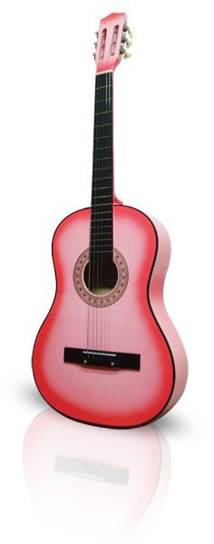 Perfect Beginner Pink Acoustic Guitar for ages 7 to Teen! ...Santa    http://www.pinksuperstore.com/pink_guitars.html