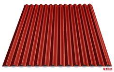 Culoare tabla cutată t18 sinus - Roșu