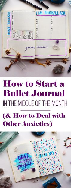 Starting a bullet journal is an exciting prospect, but it can be a bit nerve wracking too. There are so many things that can stand between you and getting started on the right foot. This guide will walk you through how to start a bullet journal even if you're halfway through a month, trying to make your bullet journal look perfect, lacking certain supplies, or even fearing failure. You can overcome these challenges and start changing your life today!
