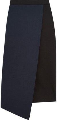 Wrap-Effect Stretch-Jersey Skirt