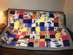 Race car quilt for Keith.