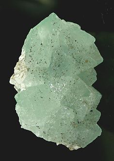 Octahedral Fluorite with Pectolite.