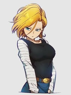 World of Our Fantasy Dragon Ball Gt, Dragon Ball Image, Dragonball Anime, Manga Anime, Krillin And 18, Android 18, Image Manga, Bd Comics, Kawaii Anime Girl