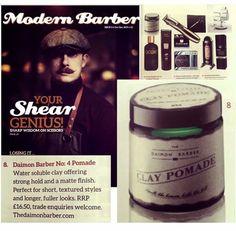 อีกหนึ่งใน credential ของ Daimon no 4 Clay Pomade แบรนด์คุณภาพจาก London ประเทศอังกฤษ ที่ได้รับการตีพิมพ์ในนิตรสาร Modern Barber Magazine  สำหรับเพื่อนๆที่มองหาผลิตภัณท์เซ็ตผม ลุคธรรมชาติ เซอเล็กๆ ดูไม่ตั้งใจจนเกินไป ไม่เงา เซ็ตออกมาให้ผมมี volume และ texture ใช้ได้ดีกับผมสั้นหรือผมยาวที่ต้องการให้ดูเต็มขึ้น มาพร้อมกับกระปุกแก้วสีเขียวและกลิ่นหอมที่ผสมผสานสไตล์หรูหราที่มีเอกลักษณ์ของ fig and frankincense for all hair types  สั่งซื้อได้ผ่านทาง Line ID:  Dandy_T หรือ Inbox ครับ  Ref: Daimon…