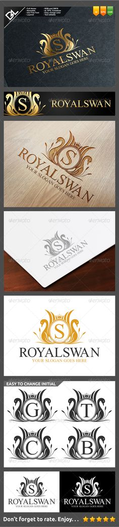 Royal Swan — Vector EPS #invitation #nest • Available here → https://graphicriver.net/item/royal-swan/7796773?ref=pxcr