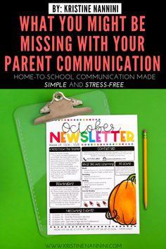 What Might Be Missing with Your Parent Communication - Kristine Nannini - Help your elementary students' parents, guardians, & families better stay involved in their child - Parent Newsletter, Classroom Newsletter, 4th Grade Classroom, Middle School Classroom, Classroom Management Styles, Parent Teacher Communication, Letter To Teacher, Student Success, Parents As Teachers