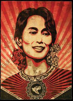 Aung San Suu Kyi / Shepard Fairey