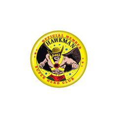 Hawkman Superhero Club Member Button