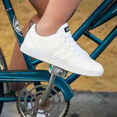 adidas neo advantage white stripe navy