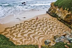 Sand Painting by Andres Amador.