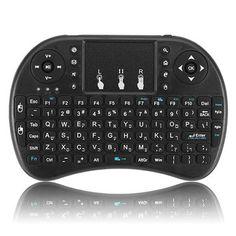 I8 Hebrew Version 2.4G Wireless Mini Keyboard Touchpad Air Mouse Black Mac Os, Linux, Uganda, Home Entertainment, Sierra Leone, Smart Tv, Taiwan, Montenegro, Teclado Qwerty