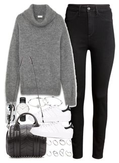 """Outfit for winter with Stan Smiths"" by ferned ❤ liked on Polyvore featuring H&M, Yves Saint Laurent, Chiara Ferragni, adidas Originals, Alexander Wang, Zimmermann and ASOS"