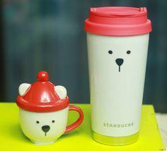 Korea Starbucks Christmas Polar bear Demimug 89ml Elma Polar Bear Tumbler 473ml #Starbucks