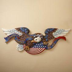 Jim Shore Plaque - Patriotic American Flag Eagle